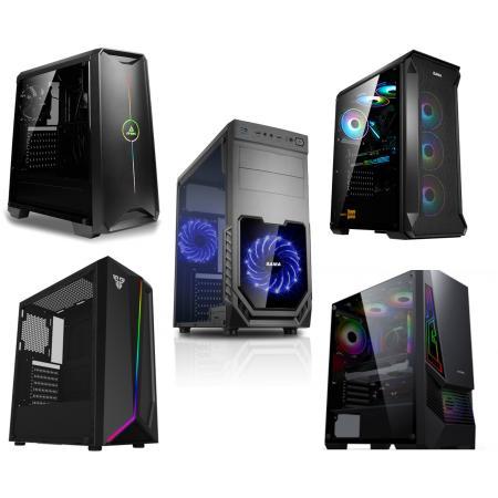 מחשב נייח גיימינג דור עשירי Intel i5-10400F, זיכרון 8GB, כונן SSD בנפח 480GB + כונן HDD בנפח 500GB, מאיץ גרפי GTX 1650 4GB ומערכת הפעלה Windows 10