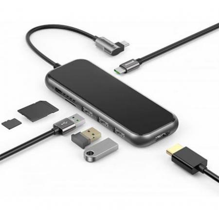 מפצל חכם + קורא כרטיסי זיכרון Baseus Multi USB-C